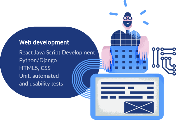 web development illustration designed by bitbybit